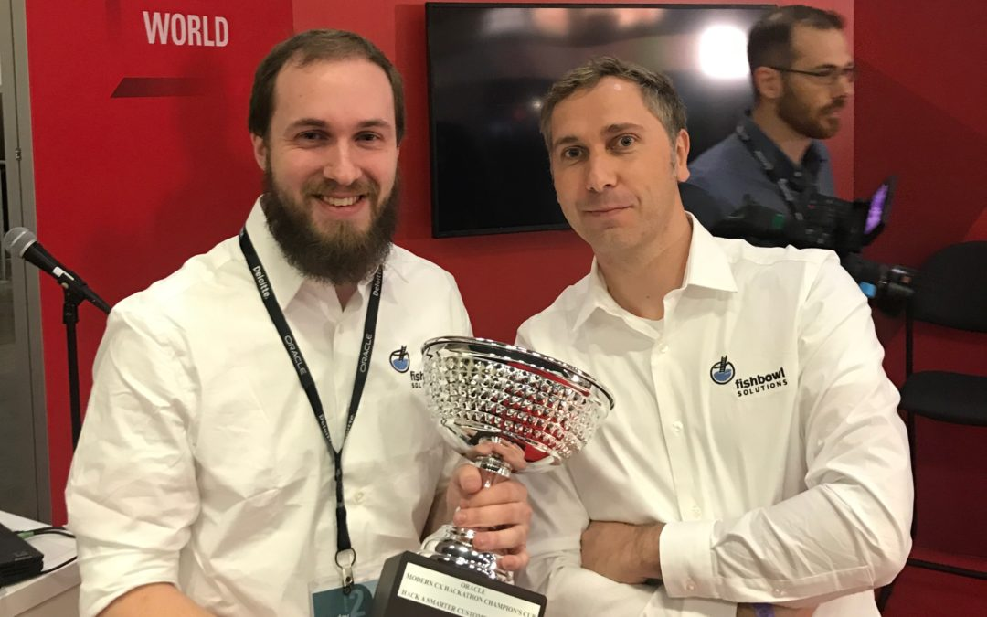 The Fishbowl Team Wins the 2017 Modern CX Hackathon at Oracle Openworld