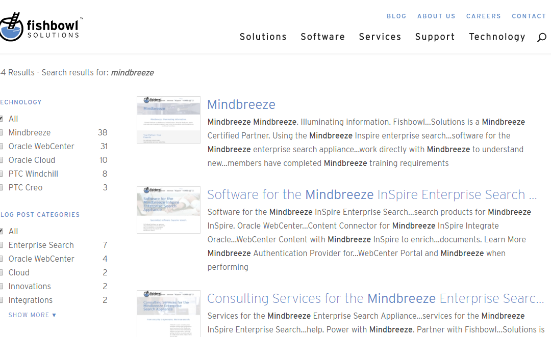 How We Integrated this Website with the Mindbreeze InSpire Enterprise Search Appliance