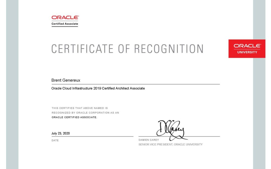 Fishbowl Solutions Employees Achieve Oracle Cloud Infrastructure Architect Associate Certification