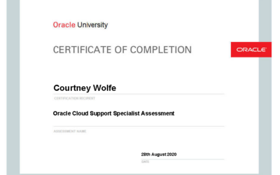 Employees Achieve Oracle Cloud Support Specialist Certification