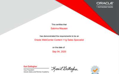 Employees Achieve Oracle WebCenter Content 11g Sales Specialist Certification